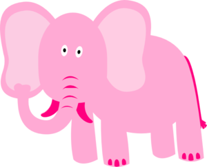 Don't think of me. I'm a pink elephant!